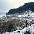 雪の輪島の千枚田