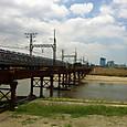 大和川にかかる鉄橋
