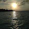 モルディブの夕陽